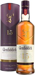 Glenfiddich 15 Year Old Single Malt Scotch Whisky – 70 cl £36 at Amazon