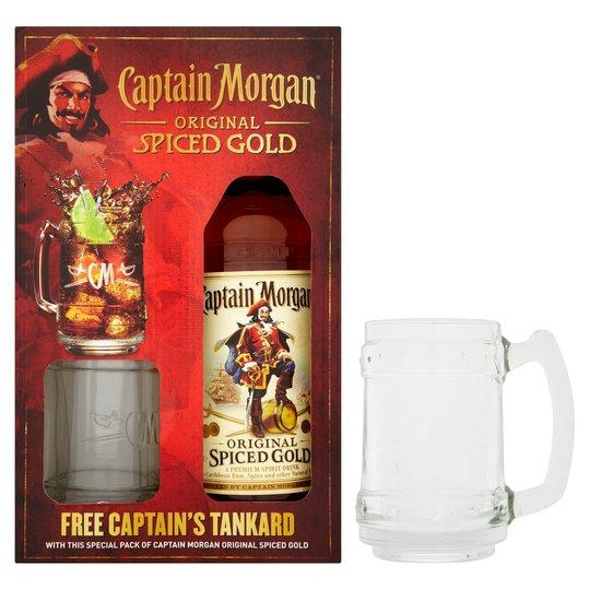 Captain Morgan Original Spiced Gold Rum 70Cl with Tankard £13.75 @ Tesco