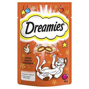 Dreamies Cat Treats (all flavours) - 76p @ Amazon Prime Now orders only
