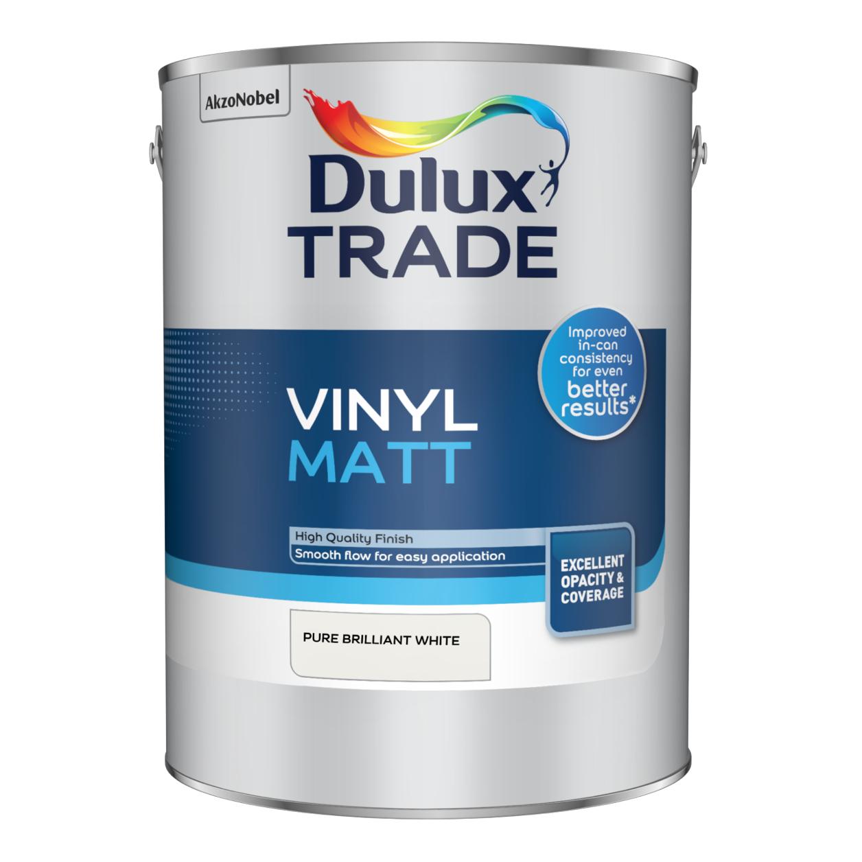 Dulux trade vinyl matt pure brilliant white or magnolia 7.5 Litre at Dulux Shop £33.89 delivered / £26.39 C&C