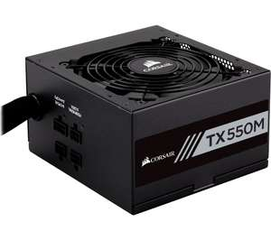 Corsair TX550M 550W 80+ Gold Hybrid Modular Power Supply/PSU, £64.99 at Currys PC World with code