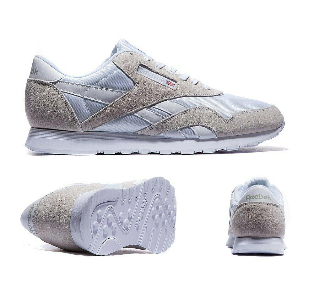 Mens Reebok Classic Nylon White/light Grey Trainers size 6 £23.49 delivered @ bigbrandoutlet2015 / eBay