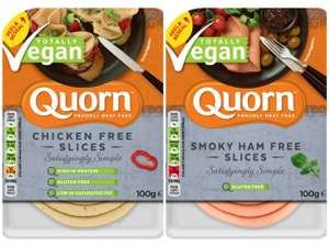 Quorn Totally Vegan Smoky Ham Free Slices 100g or Quorn Totally Vegan Chicken Free Slices 100g - £1.50 Each at Co-Op