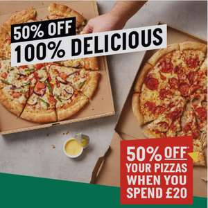 50% Off Pizza with £20 or more spent @ Papa Johns Pizza