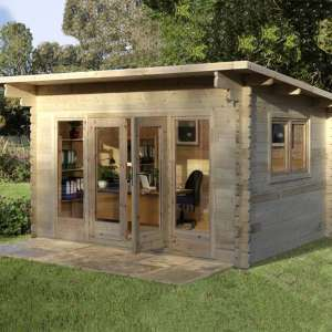 """Forest Garden Melbury 44mm Log Cabin 13ft 1"""" x 9ft 8"""" (4.0 x 3.0 m) £2,349.89 delivered at Costco"""