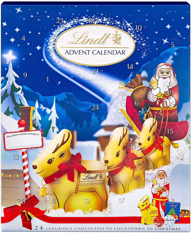 Lindt Milk Chocolate Advent Calendar £8.50 s&s / £10 Prime / £14.49 Non Prime at Amazon