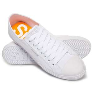 Superdry Mens Low Pro Sneakers - White - £8.99 @ Superdry Ebay