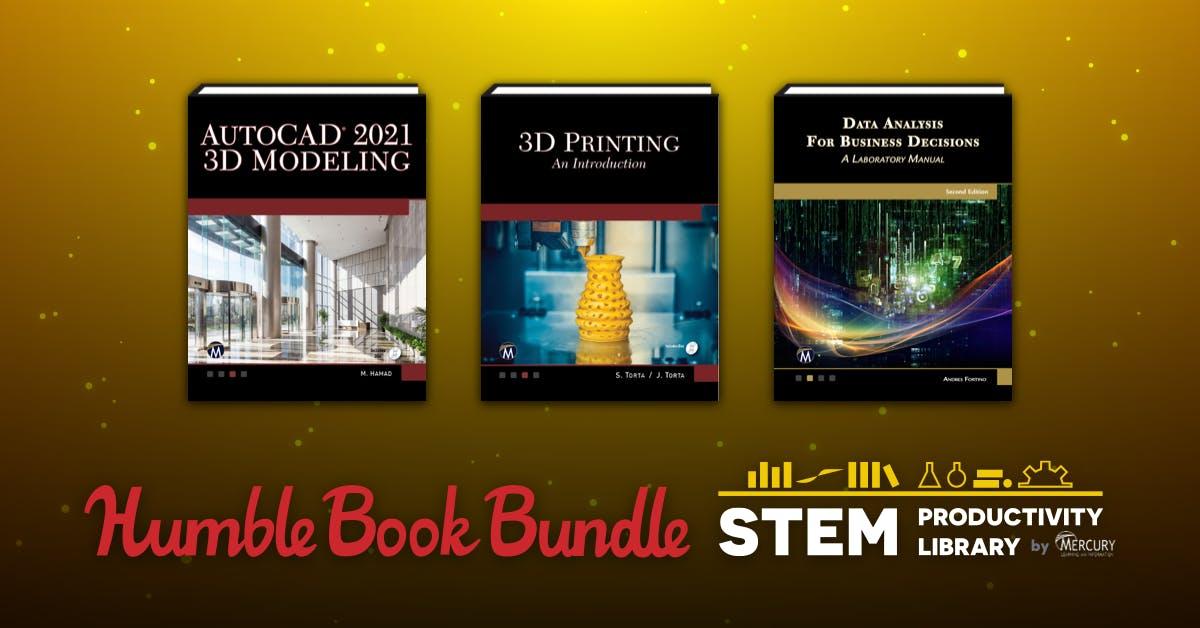 Humble Book Bundle: STEM Productivity Library (AutoCAD 2021 | Python Programming | 3D Printing | Photoshop + more) from 77p @ HumbleBundle