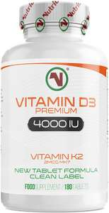 Nutriodol Vitamin D3 4000iu 180 High Strength Tablets £4.49 / £8.98 NonPrime Sold by Nutriodol Supplements Ltd & Fulfilled by Amazon