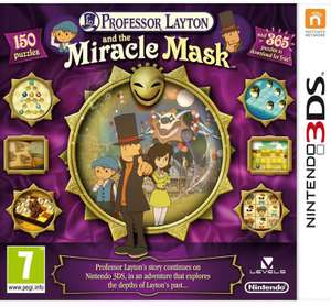 3ds game reductions at Argos including Professor Layton & The Miracle Mask and Devilish Brain Training at £7.99 + free Click & Collect