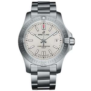 Breitling Chronomat Colt 41mm Silver Dial Men's Automatic Watch £2060 @ Berry's Jewellers