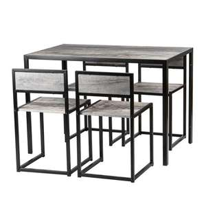 Harbour Housewares 4 Person Dining Table and Chairs Set - Light Wood £48.60 with code at RINKIT.com
