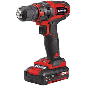 Einhell Cordless Drill with 1x1.5Ah Battery, Charger and FREE 2.5Ah battery - £51.59 @ Machine Mart