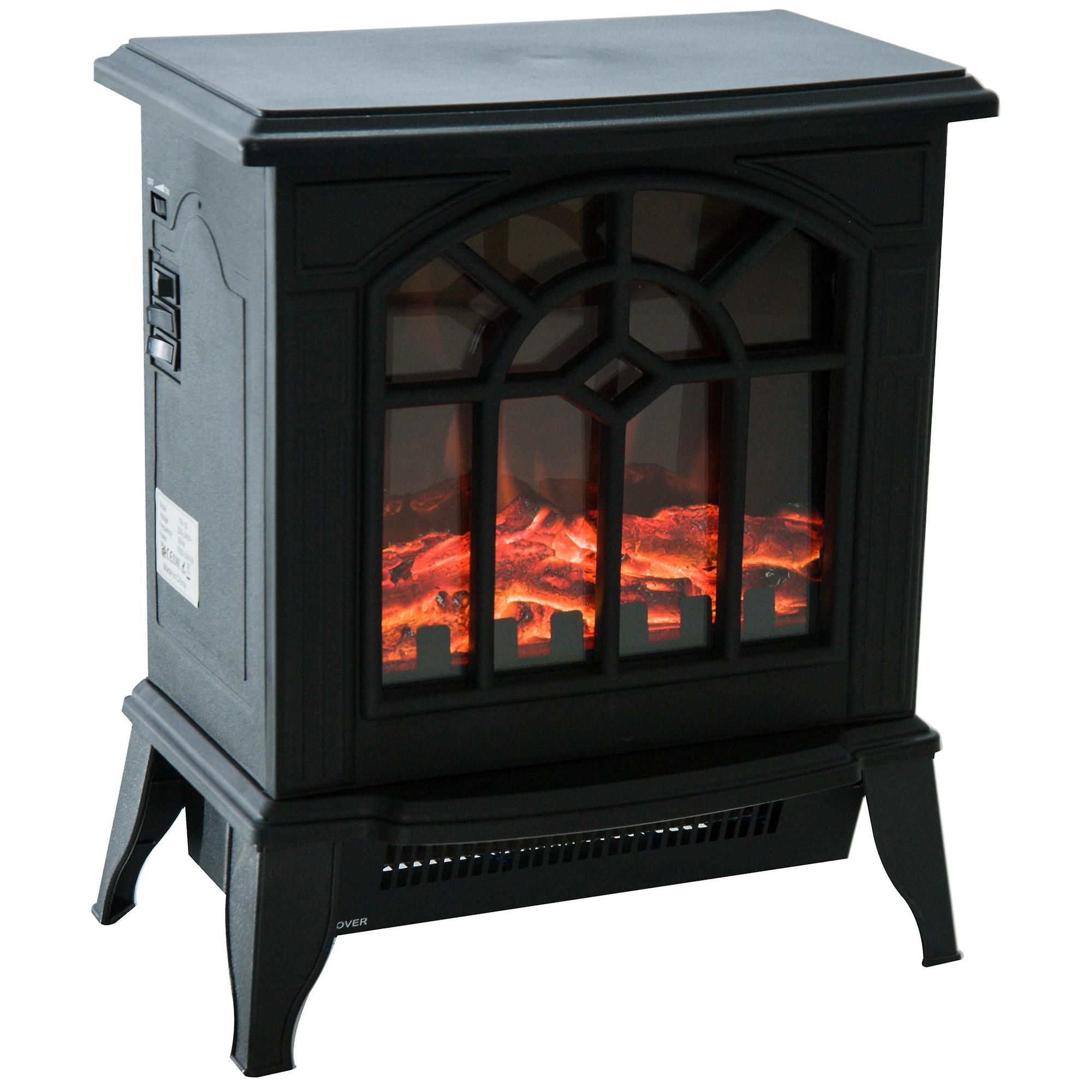 HOMCOM 900W/1800W Freestanding Electric Fire Indoor Heater Stove £52.01 @ Fruugo