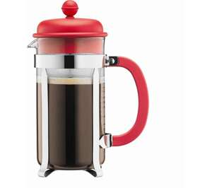 BODUM Caffettiera 1918-294 Coffee Maker (8 cup) - Red (Click & Collect) @ Currys