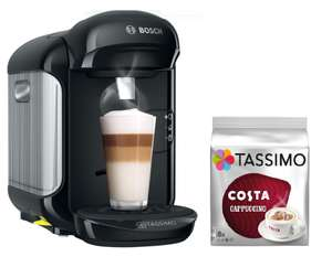 Bosch Tassimo Vivy II Hot Drinks Pod Coffee Machine Black + 1 Pack of refill Pods - £29.99 Free Click & Collect with Code @ Robert Dyas
