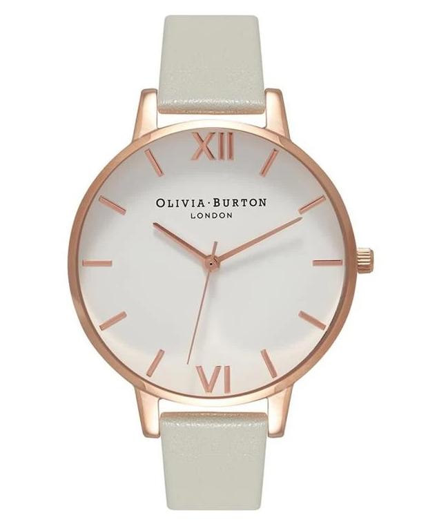 Olivia Burton big white dial watch grey £41 @ Charles Fish