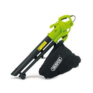 Draper 3000W 35L 3-In-1 Garden Vacuum, Leaf Blower And Mulcher £30.99 For Click & Collect Using Code @ Robert Dyas