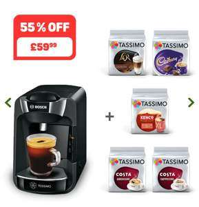 Tassimo Suny Coffee Machine + 5 packs coffee pods & £20 credit £59.99 @ Tassimo