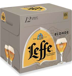 Leffe Blonde Belgium Abbey Beer Bottle, 12 x 330ml only £14 Prime / £18.49 non Prime at Amazon