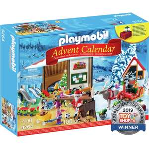 TWO Santa's Workshop Playmobil Advent Calendars £31.98 delivered, using code, @ Playmobil (new accounts)