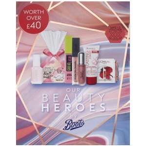 Free Beauty Box worth £40 WYS £20 on Selected Cosmetics at Boots Online - free click & collect over £20