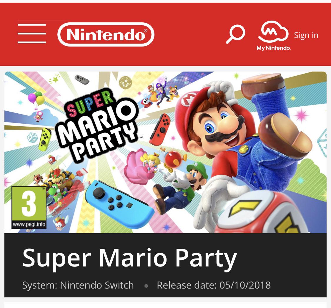 Super Mario Party (Download) for £33.29 from Nintendo Eshop