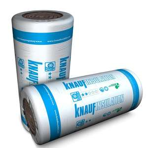 Knauf Earthwool Loft Roll - 200mm or 100mm £17 Each / Also on 4 for 3 = £51 Total - Free Click & Collect @ Homebase