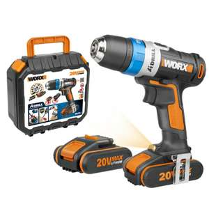 WORX 'High Tech' cordless drill with 2x2Ah batteries, fast charger and hard case £89.99 (was £199.99, 55% off) ebay / Positecworx