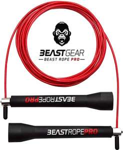 Beast Gear Beast Rope Pro Skipping/Jump Rope £6.77 Prime (+£4.49 NP) Sold by Andromache Inc Dispatched by Amazon