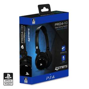 Officially Licensed PRO4-10 PS4 Headset - Black £7.99 (Free Click & Collect) @ Argos