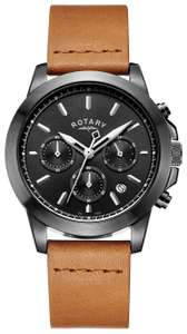 Rotary Men's Chronograph Brown Leather Strap Watch £49.99 (Free Click + Collect) @ Argos