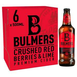 6 x 500 ml Bulmers Crushed Red Berries and Lime Cider- £4.50 Instore @ Tesco Fox and Goose