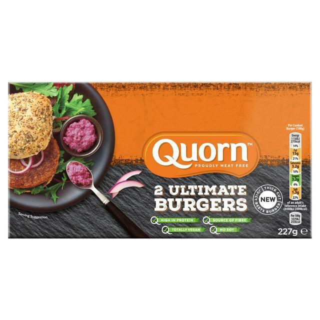 Quorn Ultimate Vegan Burgers x2 227g £1.50 at Sainsbury's Fulham wharf
