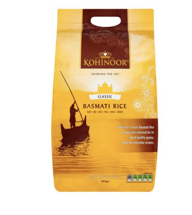 Kohinoor Classic Basmati Rice 10Kg - £13 @ Tesco