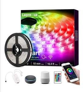 Lepro LED Smart Strip Lights with Remote WiFi 5m £15.89 (+£4.49 Non-Prime) - sold by NEON Mart / FBA @ Amazon