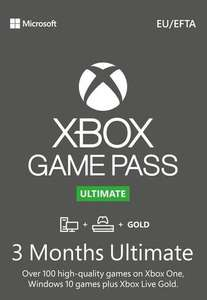 3 Month Xbox Game Pass Ultimate Xbox One / PC £19.74 using code @ Eneba / Best Pick