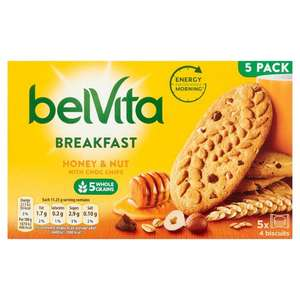 BelVita Breakfast Biscuits Honey & Nuts 5 Pack 5 x 45g £1 @ Morrisons