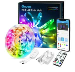 LED Strip Lights Govee Bluetooth Music Sync 5 Metre RGB Lighting Strip - £15.99 (+£4.49 NP) @ Sold by Govee UK and Fulfilled by Amazon.