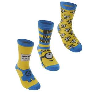 Minions Despicable Me Socks £1 a pair + £4.99 C&C/Delivery at House of Fraser