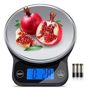 Digital Kitchen Scales,13 lbs/6kg Kitchen Food Scales Weight Grams and Oz £11.49 Sold by Romanda_Official and Fulfilled by Amazon