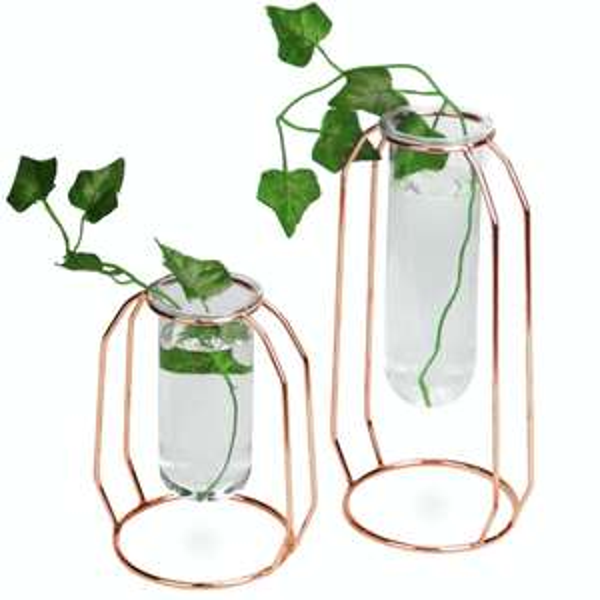 Rose Gold Centrepiece Flower Vases - Set of 2 £8.94 delivered From Roov