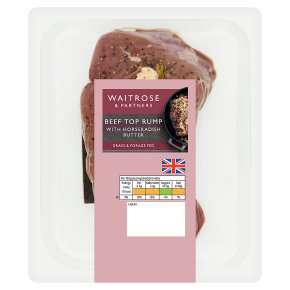 Waitrose - Beef Top Rump with Horseradish Butter 530g - £6.74 @ Waitrose & Partners