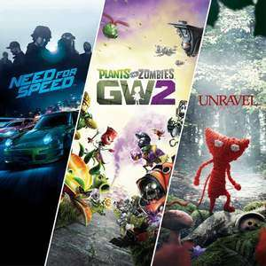 (PS4) EA Family Bundle (Need For Speed / Plants vs. Zombies Garden Warfare 2 / Unravel) - £5.24 @ PSN Store