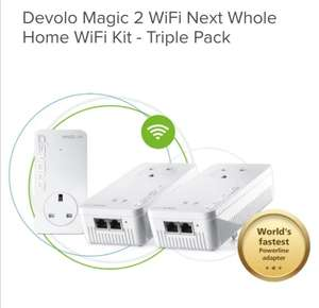 Devolo Magic 2 WiFi Next Whole Home WiFi Kit - Triple Pack - £104.15 @ Maplin