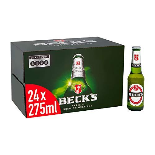 Beck's Original German Pilsner Lager Beer 24x275ml Bottles, 4% ABV £14.90 Amazon Prime / £19.39 Non Prime