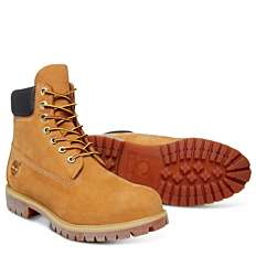 """Timberland Mens Iconic Premium 6"""" Boots Wheat or Black only £98.05 at Griggs"""