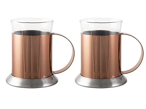 La Cafetiere Set Of 2 Copper-Finish Glass Cups, 200ml (7 fl oz) £10 (Prime) + £4.49 (non Prime) at Amazon