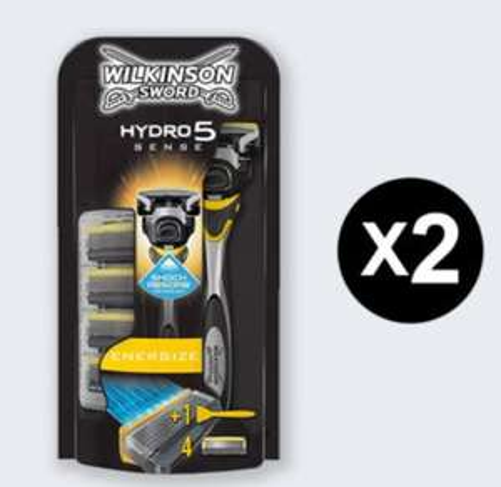 Wilkinson Sword Hydro 5 Sense Energize x 2 Slobs (10 Blades) are £14.99 Delivered @ Wilkinson Sword