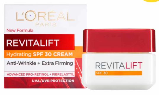 L'Oréal Paris Revitalift Day Cream SPF 30, 50ml - £6 @ Wilko Leeds (In store)